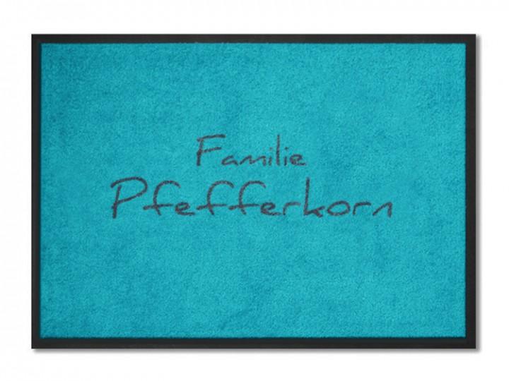 fu matte familie pfefferkorn personalisiert mit namen. Black Bedroom Furniture Sets. Home Design Ideas