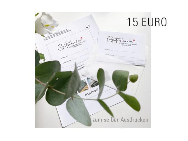Gutschein 15,00 Euro