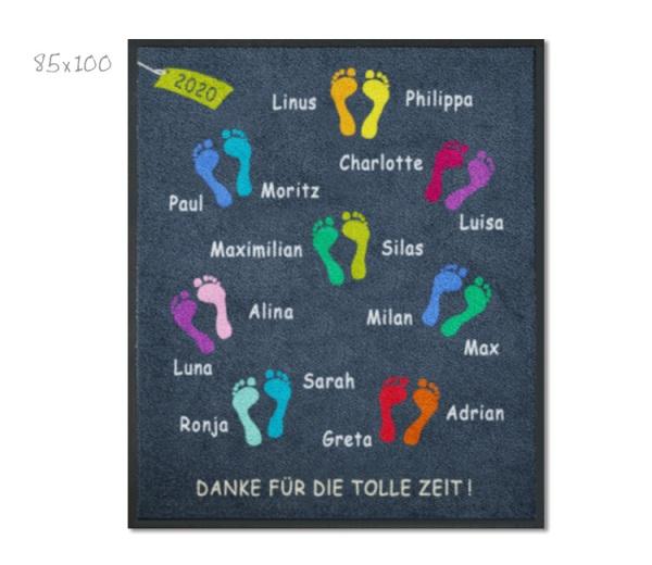 KITAmatte Füsschen + Namen