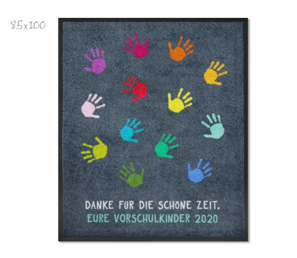 KITAmatte Hände für Kindergartenabschied (ohne Namen)