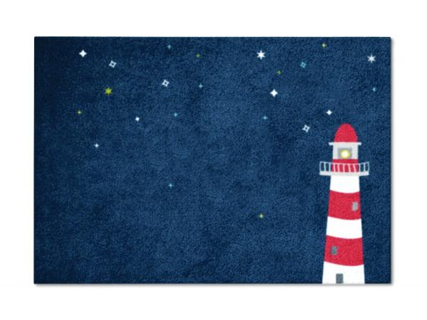 Kinderteppich dunkelblau  Kinderzimmerteppich Leuchtturm | Für Kinder | mattilde - Die Matte ...