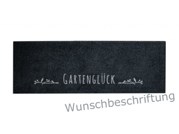Stiefelmatte Weidenranke mit Wunschbeschriftung