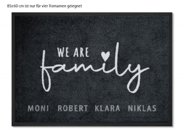 Fußmatte WE ARE FAMILY