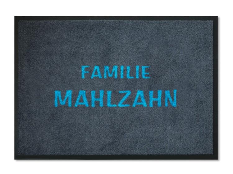 fu matte familie mahlzahn personalisiert mit namen. Black Bedroom Furniture Sets. Home Design Ideas