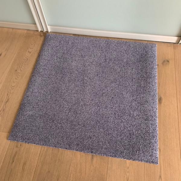 Uni graublau (ohne Bedruckung) / 85x85cm / ohne Trittrand-0030