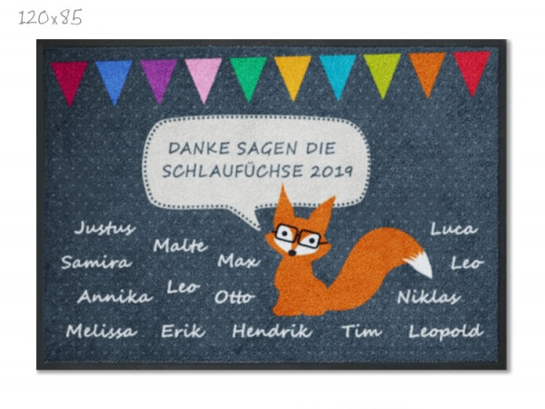 KITAmatte Fuchs mit Namen