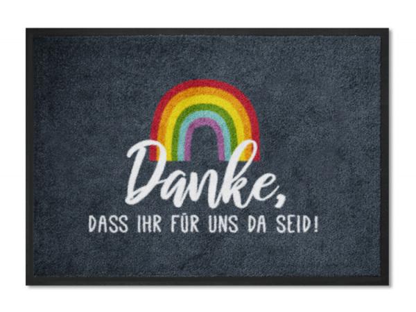 Regenbogenmatte DANKE (ohne Personalisierung)