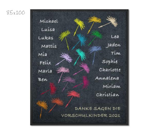 KITAmatte Pusteblumen + Namen