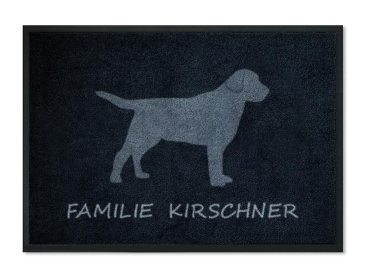 fu matte hund mit namen personalisiert mit namen. Black Bedroom Furniture Sets. Home Design Ideas