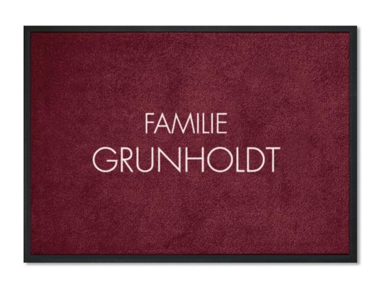fu matte familie grunholdt personalisiert mit namen. Black Bedroom Furniture Sets. Home Design Ideas