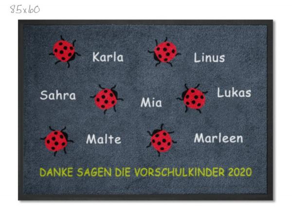 KITA Abschiedsmatte Marienkäfer