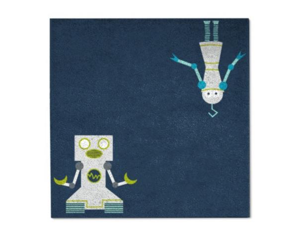 Spielteppich Roboter