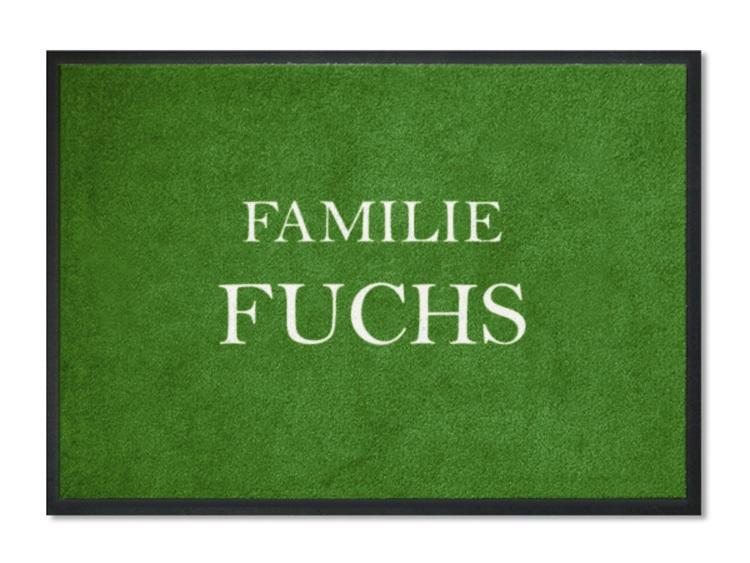 fu matte familie fuchs personalisiert mit namen. Black Bedroom Furniture Sets. Home Design Ideas