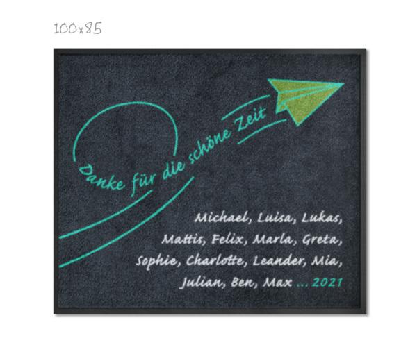KITAmatte Papierflieger + Namen