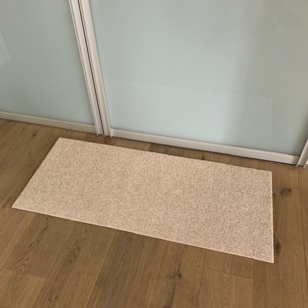 Uni beige (ohne Bedruckung) / 115x50cm / ohne Trittrand-0190