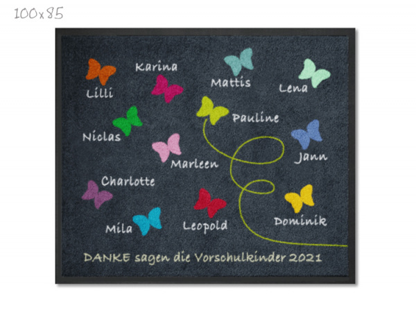 KITAmatte Schmetterlinge + Namen